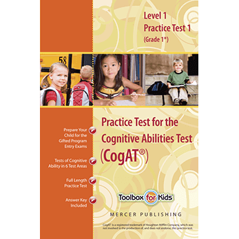 CogAT Grade 1 Form 6 Practice Test 1 eBook