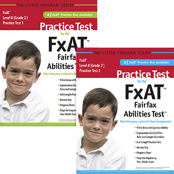 CogAT grade 2 Fairfax County FxAT Practice Tests 1 and 2