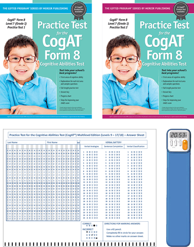 CogAT Grade 1 (Level 7) Form 8 Study Package