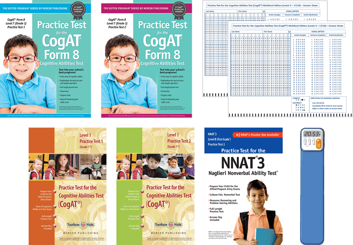 CogAT Grade 1 Total Study Package