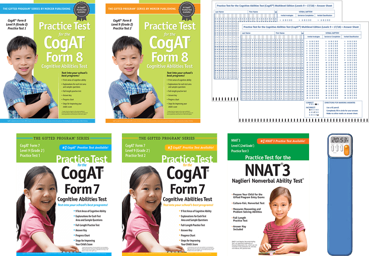 Total Study Package - Cogat grade 2 form 7 multilevel practice test 1 and 2