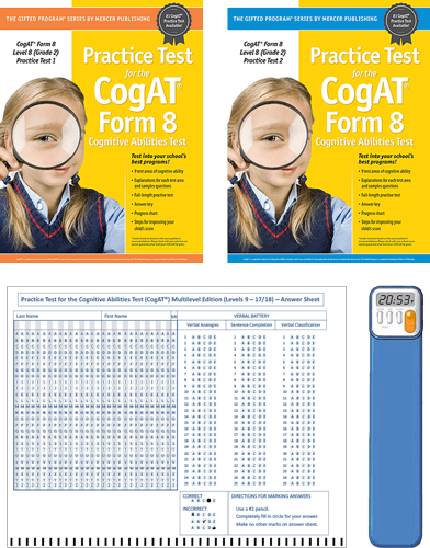 CogAT Grade 2 Primary (Level 8) Form 8 Study Package