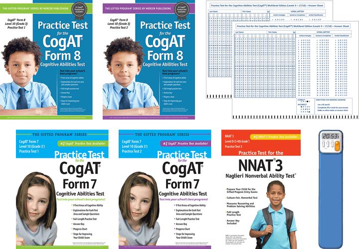 Total Study Package - CogAT grade 3 Level 10 form 6 and 7 test 1 and 2