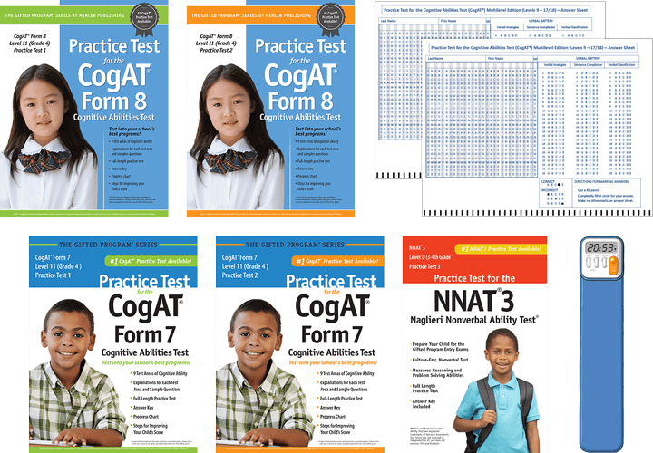 Cogat grade 4 form 6 and 7 practice tests 1 and 2 - Total Study Package