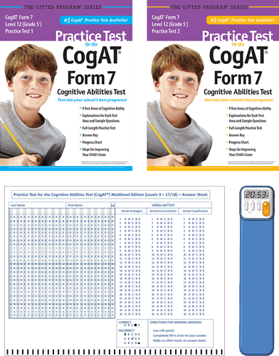 CogAT Grade 5 (Level 12) Form 7 Study Package