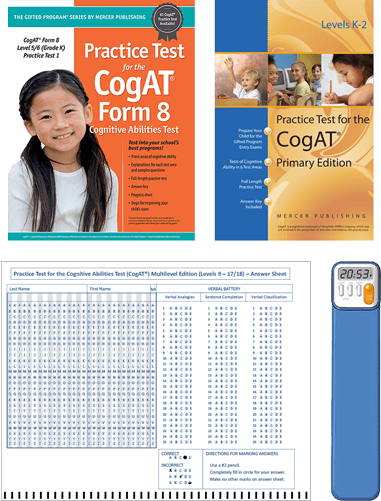 CogAT Grade kindergarten form 6 and 7 practice test 1 primary editions tests
