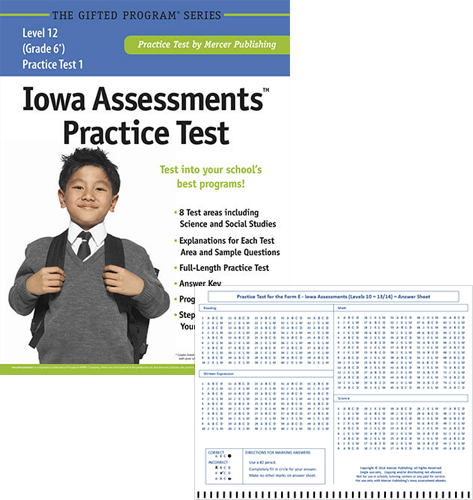 Iowa Assessments Grade 6 Study Package