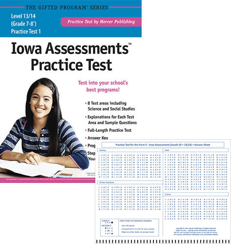 Iowa Assessments Grades 7-8 Study Package