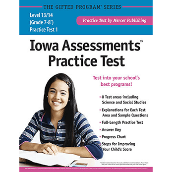 Iowa Assessments Grades 7-8 Levels 13-14 Practice Test eBook