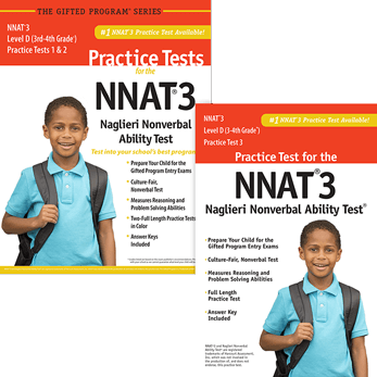 NNAT3 Grade 3/4 Level D Test 1, 2, and 3 Practice Test