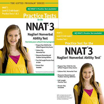 NNAT3 Grade 5/6 Level E Test 1, 2, and 3 Practice Test