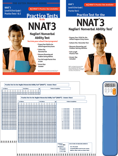NNAT3 Grade 1 Level B test 1,2, and 3 - Total Study Package