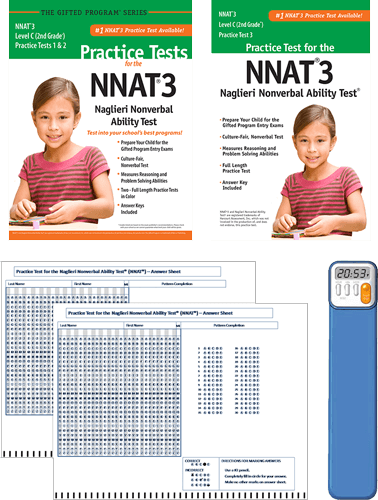 NNAT3 Grade 2 Level C Test 1, 2, and 3 - Total Study Package