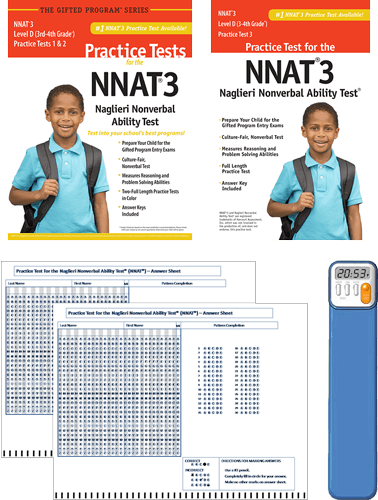 NNAT3 Grade 3/4 Level D Test 1, 2, and 3 - Total Study Package