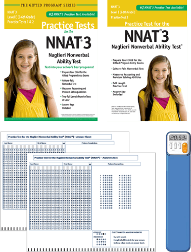 NNAT3 Grade 5/6 Level E Test 1, 2, and 3 - Total Study Package